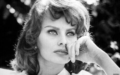 een jonge Sophia Loren