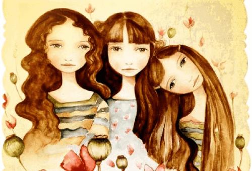 drie vriendinnen