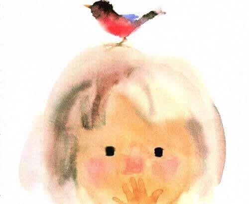 Kindje met Vogel