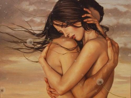 man en vrouw in een omhelzing