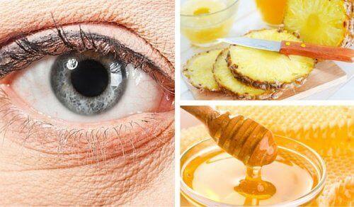 Een natuurlijk ananasmasker voor rimpels onder je ogen