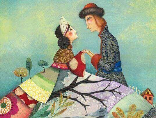 tekening van een man en vrouw