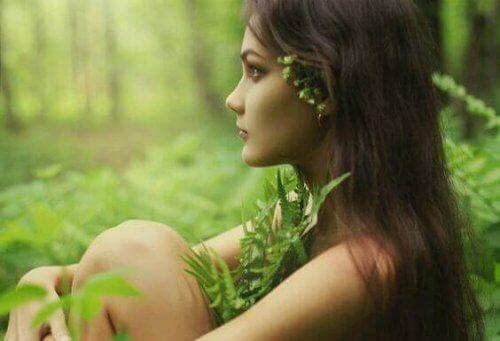 vrouw-natuur