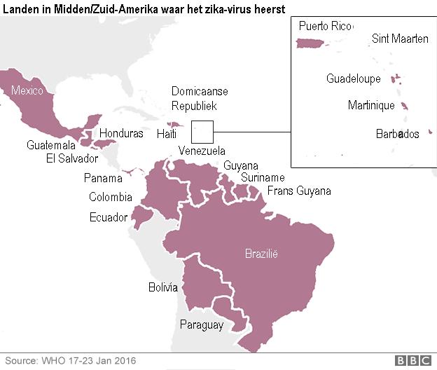 Landen met Zikavirus