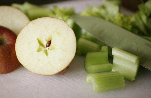 Appel en selderij