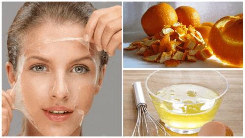 Verstevig de huid met eiwit en sinaasappelschil