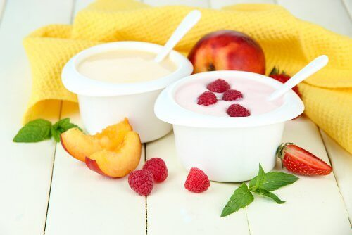 Fruit en yoghurt