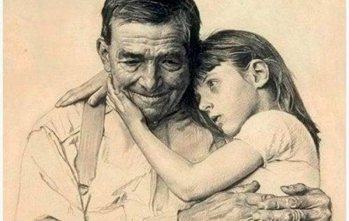Grootouders gaan niet dood, ze blijven altijd leven in ons hart