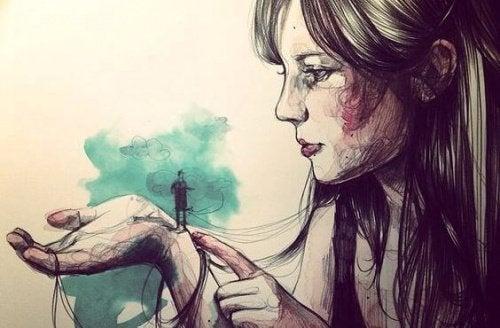 Vrouw Houdt Man Vast