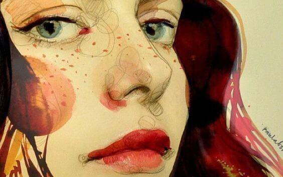 Vrouwengezicht