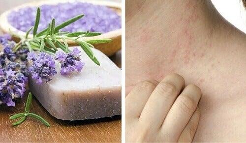 Speciale zelfgemaakte zeep voor de gevoelige huid