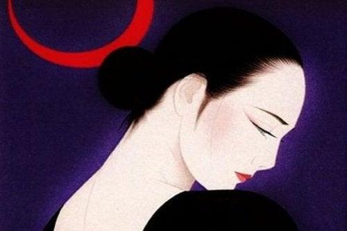 vrouw met zwart haar