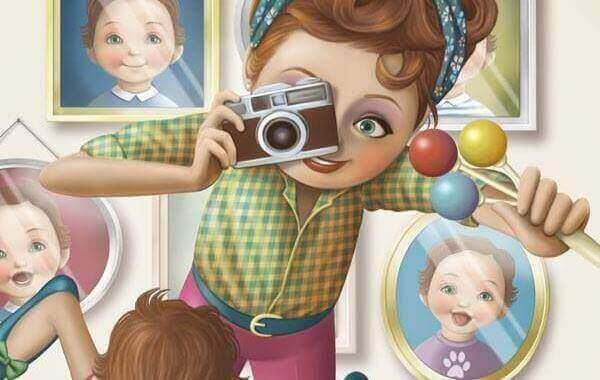 vrouw maakt foto
