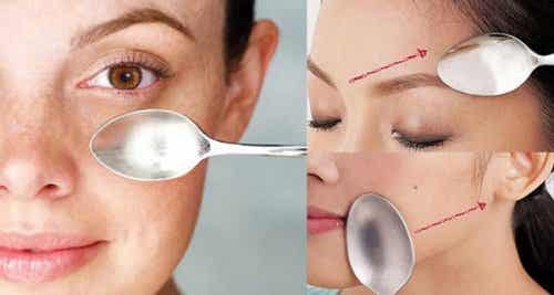 Ontdek de geweldig lepelmassage voor je gezicht