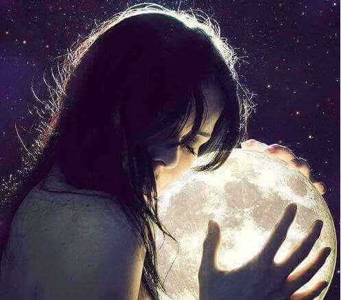 vrouw en de maan