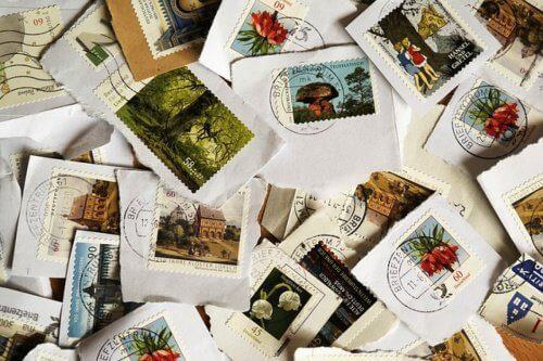 Postzegels verwijderen in de magnetron
