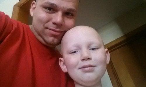 Een foto van vader en zoon