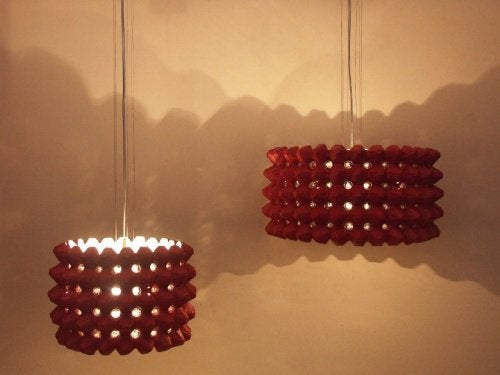 Lamp van Eierdoos