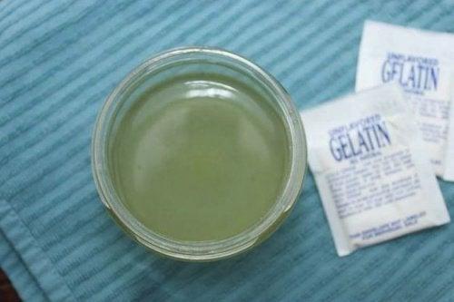 Gelatine voor een plakstrip tegen mee-eters