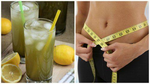 Drink limonade van groene thee om af te vallen