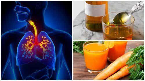 Natuurlijk hoestmedicijn gemaakt van wortel en honing