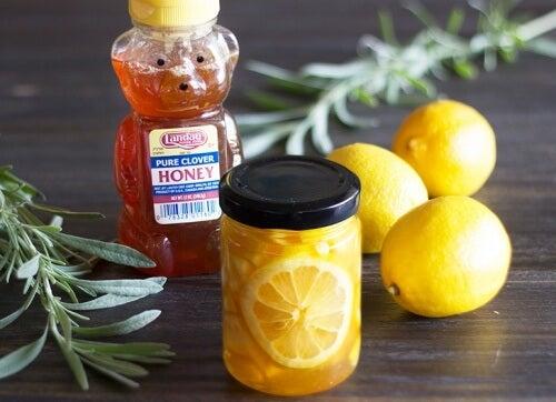 Honing en ingemaakte citroenen