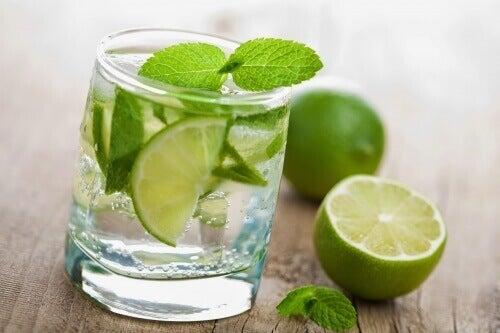 Koolzuurhoudend water met citroen