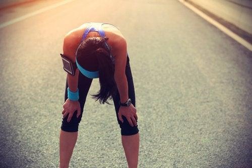 Spierkramp na het sporten