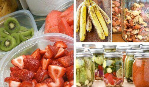 Wat je moet vermijden bij het bewaren van voedsel