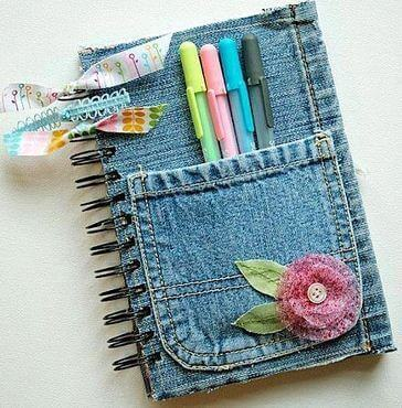 Notitieboekje met Jeans