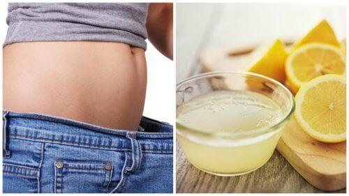 Pak overtollig vet aan met citroen
