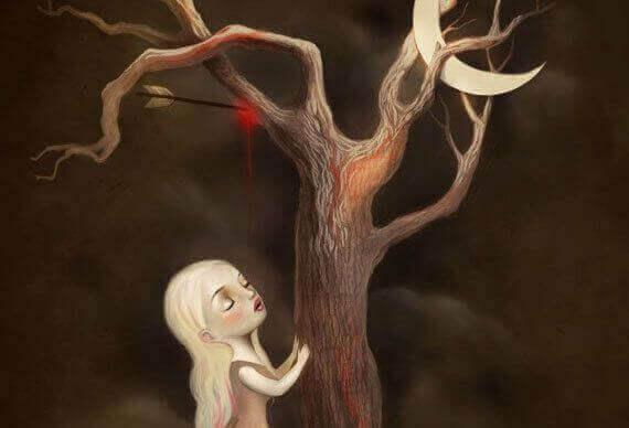 Tijd pijl in een boom