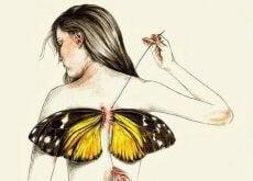 vrouw-vleugels