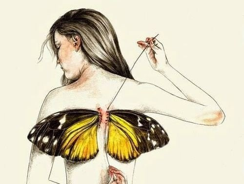 We worden geboren met vleugels, maar soms neemt het leven ze ons af