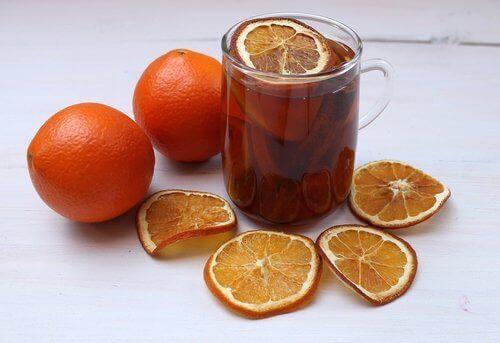 sinaasappel voor het slapen