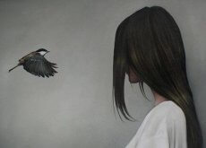 vrouw-met-vogel
