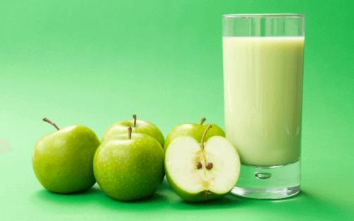 Sap van groene appels