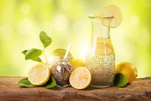 Afvallen met citroen, gember en chiazaden
