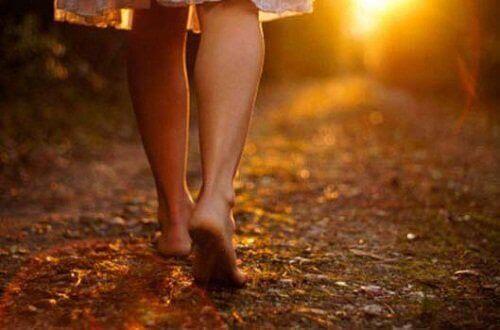Krijg een beetje zon, ga wandelen in het gras