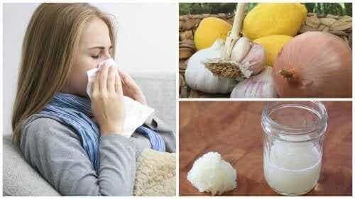 Uienbehandeling voor hoest, allergieën of griep