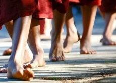 Mediteren onder wandeling