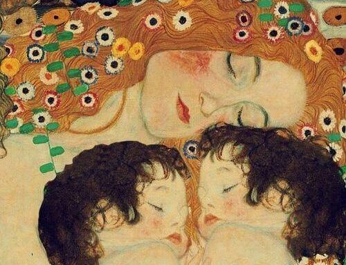 Moeder met tweeling