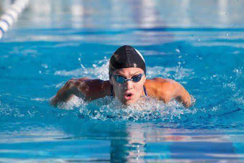 Zwemmer in het water