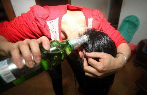 bier in je haar