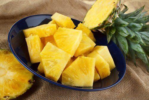 Stukjes Ananas