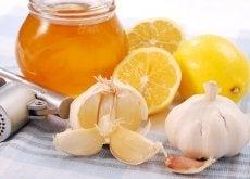 Citroen, knoflook en honing