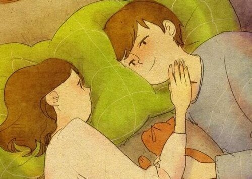 Koppel in Bed