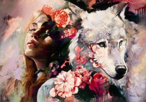 Vrouw en Wolf