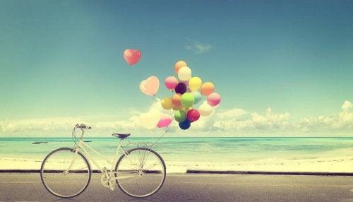 Ballonnen op het strand