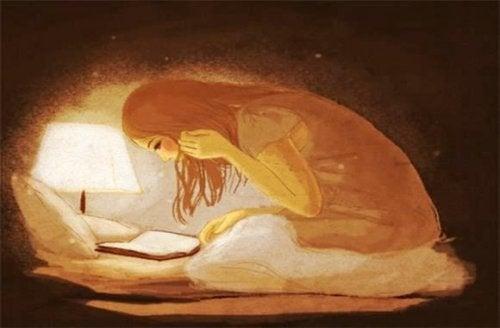 's Nachts schrijven